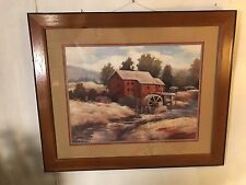 Print Watermill On Country Stream SignedKanayo Ede.C9pix4size/details.MAKE OFFER