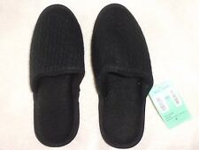 NEW Genuine 100% Cashmere Nordstrom Slippers sz S NWT Black Mules Cable Knit Wmn