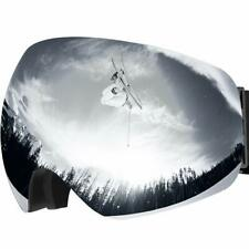 Lunette Masque de Ski Protection UV400, Lunette Détachable OTG Snowboard