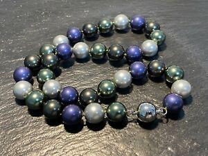 Muschelkernperlen Collier Kette Länge 51 cm Perlen MULTI ca  14 mm !