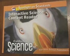3RD GRADE 3 SCIENCE  INTERACTIVE SCIENCE CONTENT READER  HARCOURT HOMESCHOOL