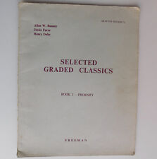 Selected Graded Classics Book 1 Grafton 71 vintage 1950s easy piano sheet music