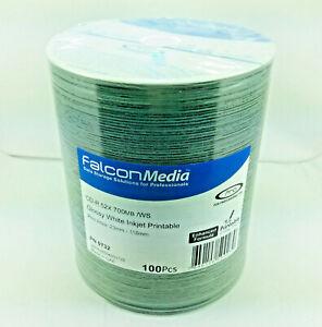 FTI Falcon CD-R 80Min 700mb White Gloss Inkjet Printable, 100 pack 0732