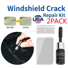 2-Pack Auto Glass Nano Repair Fluid Car Windshield Resin Crack Tool Kit