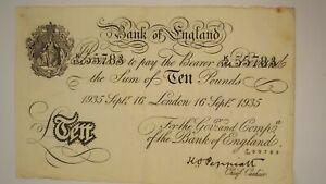 Bank of england banknotes £10 1935