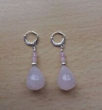 Leverback Pear Natural Fine Earrings