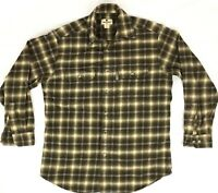Woolrich Men's M Vtg Cotton Plaid Flannel Shirt Long Sleeve Button Front Vintage