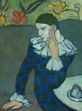 Pablo Picasso - Seated Harlequin Print Poster Giclee
