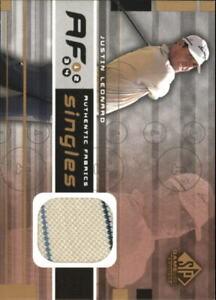 2003 SP Game Used Authentic Fabrics Singles Golf Card #JL Justin Leonard