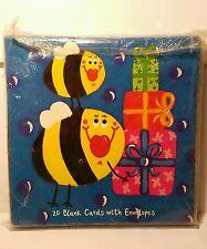 New Emma Davis 20 Oversized Greeting Cards Envelopes Elephants Ducks Bee Whimsic