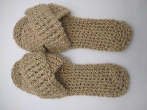 Hemp womens slippers - Home slippers - Handmade
