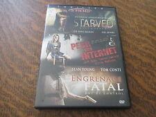 dvd 3 films thriller starved + peur sur internet + engrenage fatal