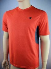 Champion Powertrain ( L) Mens T-shirt Vapor Wicking Technology V-neck Orange