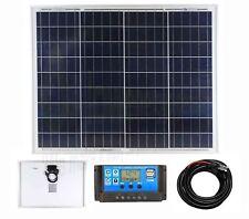 Panel Solar De Poliéster 50w Kit de carga de la batería Cargador Controlador Barco Caravana Homek 1