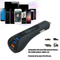 3-Port USB Car Charger Adapter QC 3.0 Quick Fast Charging For iPhone Samsung-WI