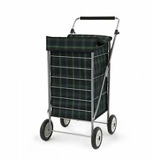 Sabichi Angus Tartan Check 4 Wheel Shopping Trolley- HEAVY DUTY