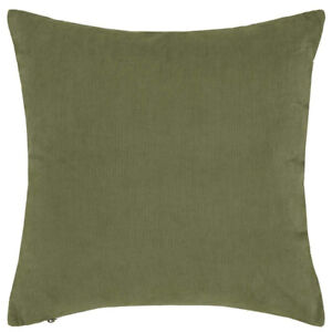 Decorative cushion upholstered in corduroy ESSENZA HOME Riv Moss