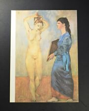 Pablo Picasso, Lithograph (two women, one in blue). Hand Signed by Picasso, COA.