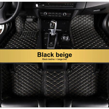 Black&Beige Floor Mats For 2009-2018 Dodge Ram 1500 2500 3500 FloorLiner Carpets