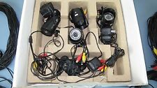 Lot Of 4 Astak CM-818W CCTV Camera's with cables & power supplies