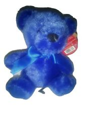 NWT VERY RARE First & Main BLUE RAINBOW BEAR Ages 3+