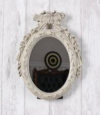 Wandspiegel oval Spiegel Shabby Chic Tischspiegel Weiss Brocante Standspiegel