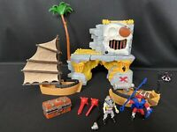 Fisher Price Imaginext Skeleton Pirate Skull Island w/ Battle Skiff B2506