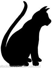 CAT #4 SILHOUETTE DECAL STICKER CUSTOM LIVING ROOM HALLWAY KITTY KITTEN  OUTLINE