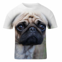 Sad Pug Dog All Over Print Fashion Vintage Summer Holiday Mens T Shirt