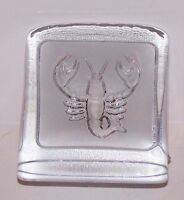 LOVELY NYBRO SWEDEN PAUL ISLING SCORPION ART GLASS PAPERWEIGHT