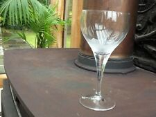 "Rosenthal Studio Line ""Lotus Blossoms"" crystal wine glass. 15 cm tall.  Signed."