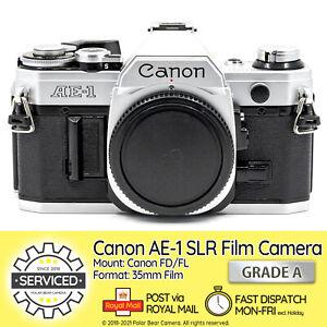 ⭐SERVICED⭐ Canon AE-1 SLR 35mm Film Camera Body *NEW SEAL* + Cap [GRADE A]