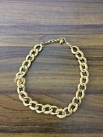 Vtg 19 1/4 NAPIER Chunky Textured Gold Tone Link Chain Necklace
