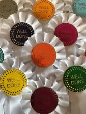 10 X Beautiful Well Done Rosettes. Trophy Awards