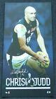 CHRIS JUDD CARLTON BLUES HAND SIGNED AFL PLAYERS VERTIRAMIC PRINT OFFICIAL AFL