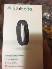 Open Box Fitbit Alta Plum Large Wristband Activity Tracker Smart Watch   Band