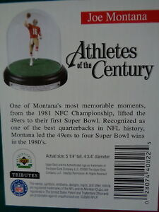 JOE MONTANA - UPPER DECK TRIBUTE FOOTBALL FIGURE - LIMITED EDITION w/ DISPLAY