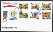 New Zealand 2005 FDC YMCA Celebrating 150 Years set stamps