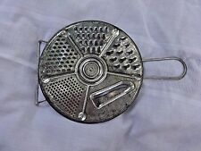 VINTAGE 5 in1 ROUND TIN GRATER FIT OVER BOWL PAN LID KITCHEN UTENSIL W HANDLE