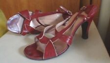 Mademoiselle - The Fashion Shoe Crimson Red Sandals - 7 1/2 B #578598 Leather