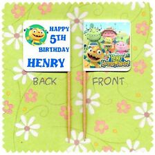 20 PERSONALISED HENRY HUGGLEMONSTER CUP CAKE FLAG Topper Food Pick Birthday