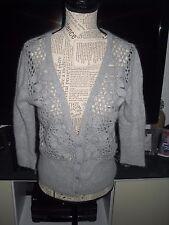 Gilet chaud angora laine gris femme MANGO taille 44
