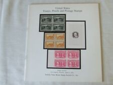 Sotheby'S Stamp Auction Catalogue - Usa Essay & Proofs- April 1979 New York