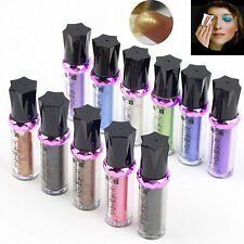 11 PCS Set , Shimmer Glitter Pigment Loose Powder Eyeshadow Roller Eye Makeup