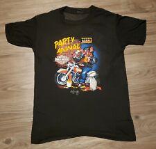 Vtg Harley Davidson Party Animal 3D Emblems Paper Thin T Shirt Size Small