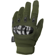 MFH Mission Tactical Gloves Hunting Grip Knuckle Trekking Mens Mittens OD Green