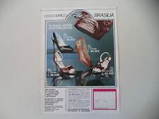advertising Pubblicità 1987 SCARPE COCCODRILLO BRASILIA
