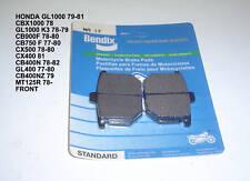 HONDA GL1000 CB900F CBX 1000 CB750 MT125 BENDIX DISC BRAKE PADS MA 17 NEW