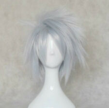 TT-427 Naruto Hatake Kakashi Silvery White 35cm short party cosplay wig