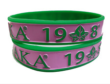 Alpha Kappa Alpha Sorority Wristbands Set of 10